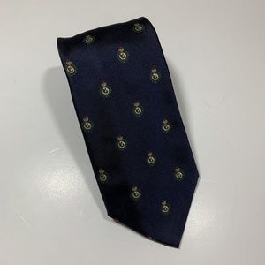 Lands' End Navy Blue Scorpion Medallion Men's Tie